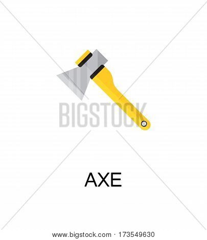 Axe flat icon. Single high quality color element for web design or mobile app. Isolated symbol on white background. Construction tool flat icon. Bulding tool vector illustration.