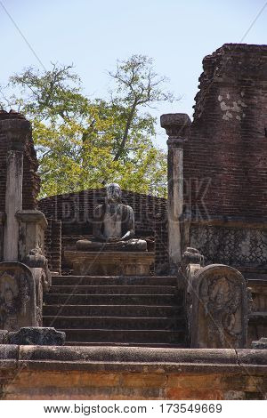 Polonnaruwa Vatadage Polonnaruwa or Pulattipura ancient city of the Kingdom of Polonnaruwa in Sri Lanka