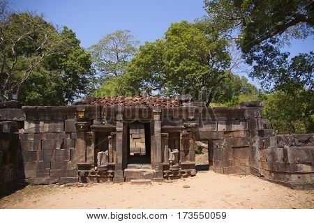 Shiva Dewalaya Polonnaruwa or Pulattipura ancient city of the Kingdom of Polonnaruwa in Sri Lanka