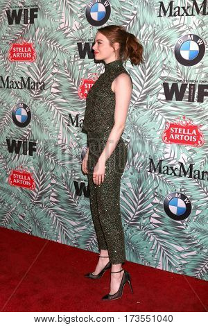 LOS ANGELES - FEB 24:  Emma Stone at the 10th Annual Women in Film Pre-Oscar Cocktail Party at Nightingale Plaza on February 24, 2017 in Los Angeles, CA