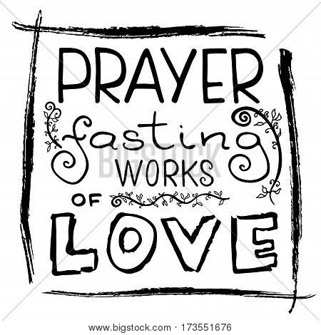 Prayer Fasting Works Vector Photo Free Trial Bigstock
