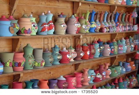 picture of traditional macedonian pottery in resen prespa macedonia poster