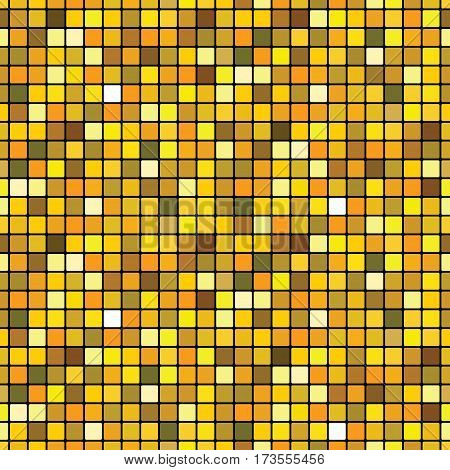 Mosaic golden (shining polycolor rich seamless pattern)