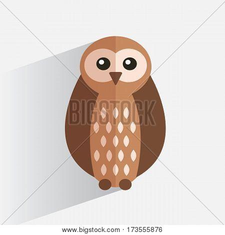 Logo owl flat design style. Vector illustration