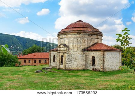 Old Khan mosque in Sheki In the north of Azerbaijan