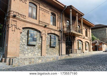 Old Building On The Street In Sheki. Azerbaijan