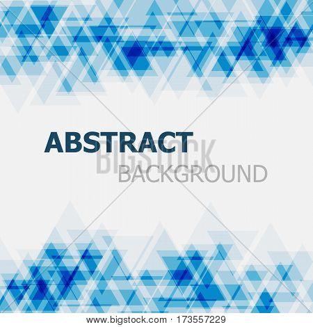 Abstract blue triangle overlapping background, stock vector