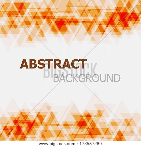 Abstract orange triangle overlapping background, stock vector