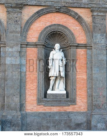 Statue On Facade Of Royal Palace) Naples