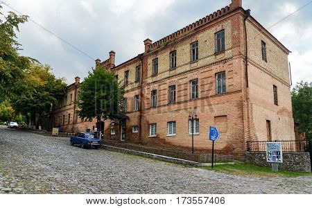 Old Building On The Street In Sheki. Azerbaijan
