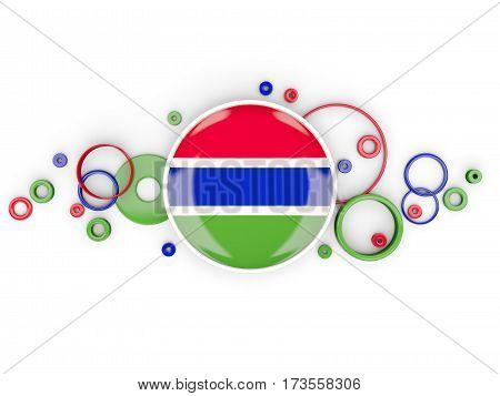 Round Flag Of Gambia With Circles Pattern