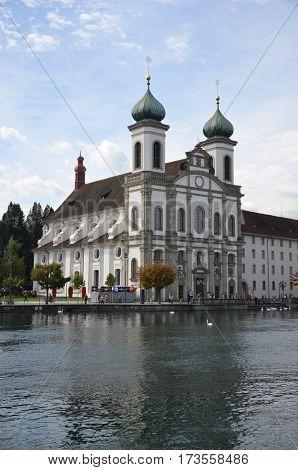 A Jesuit church in Lucerne' town, Switzerland