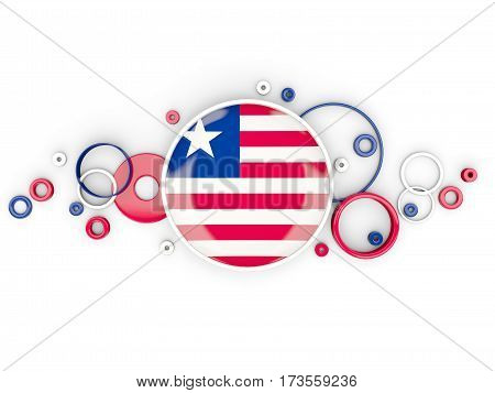 Round Flag Of Liberia With Circles Pattern