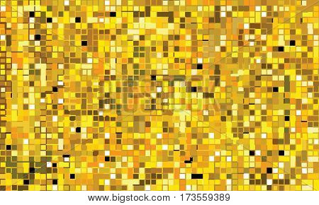 Mosaic mural golden (shining polycolor stained-glass seamless pattern)