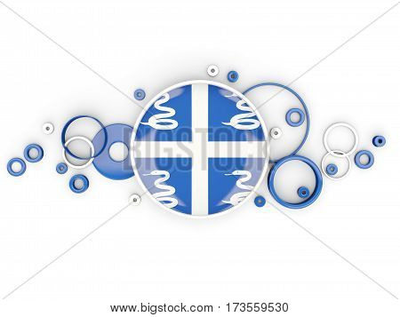 Round Flag Of Martinique With Circles Pattern
