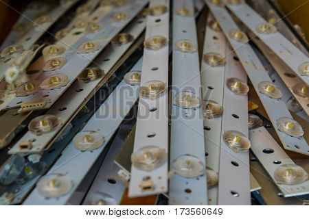LED panel close-up, light, diode, bright, lamp
