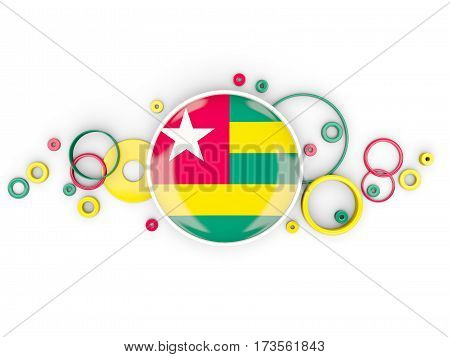 Round Flag Of Togo With Circles Pattern