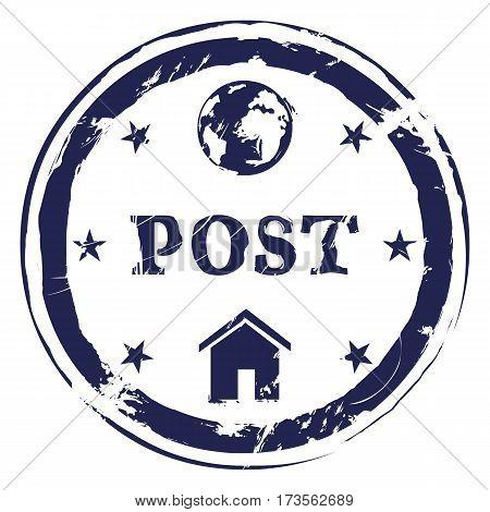 Vector Postal Stamp. International Post.