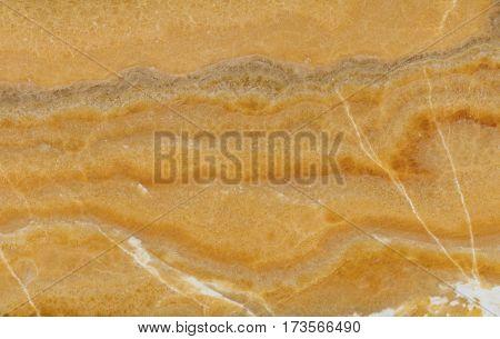 Polished slab of a natural iranian Yellow Onyx