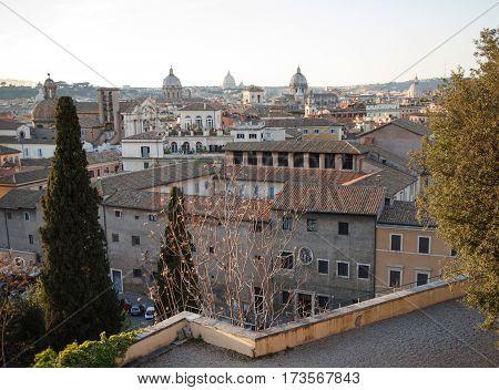 Rome panoramic view from the Campidoglio terrace