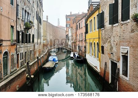 Venice Italy Europe - venetian canal day picturesque view