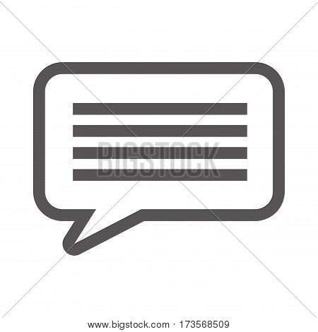 grayscale contour with callout speech vector illustration