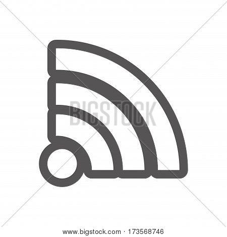 grayscale contour with wifi icon vector illustration