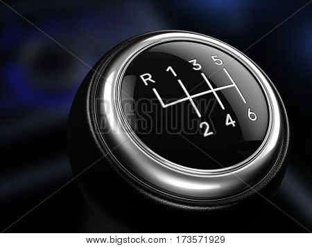 Close up of Gear stick - 3d render