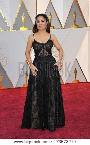 Salma Hayek at the 89th Annual Academy Awards held at the Hollywood and Highland Center in Hollywood, USA on February 26, 2017.