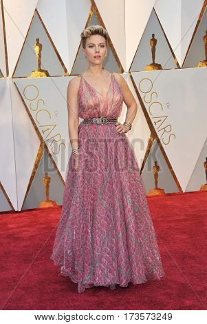 Scarlett Johansson at the 89th Annual Academy Awards held at the Hollywood and Highland Center in Hollywood, USA on February 26, 2017.