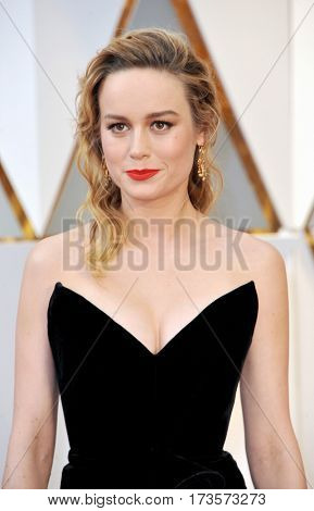 Brie Larson at the 89th Annual Academy Awards held at the Hollywood and Highland Center in Hollywood, USA on February 26, 2017.