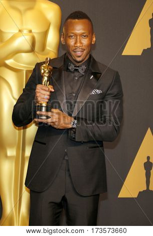 Mahershala Ali at the 89th Annual Academy Awards - Press Room held at the Hollywood and Highland Center in Hollywood, USA on February 26, 2017.