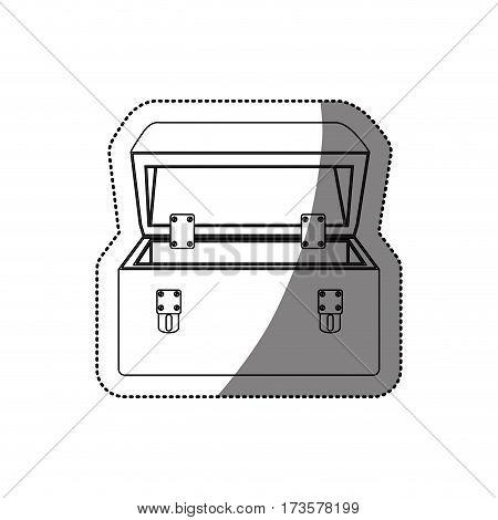 sticker monochrome contour with tool box vector illustration