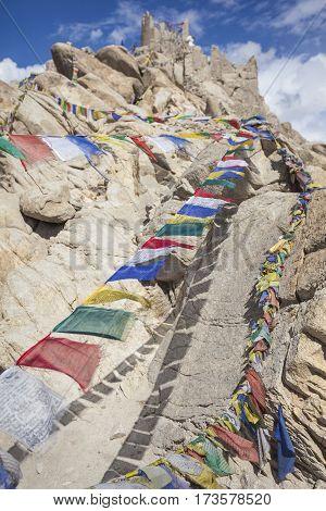Natural Landscape In Leh Ladakh, Jammu And Kashmir, India