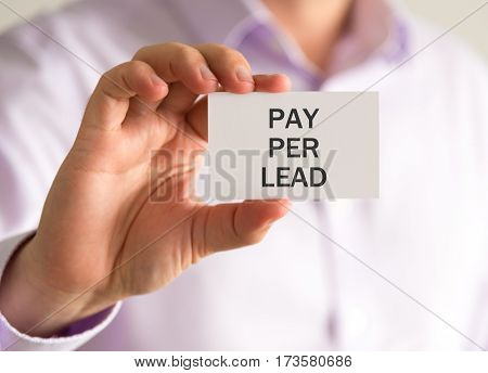 Businessman Holding A Card With Xxxxxxxx Message