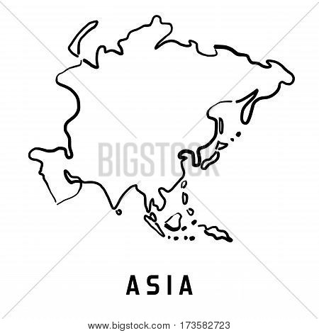Asia Simplified Map