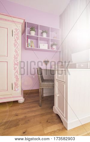 White And Pink Room