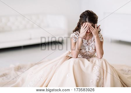 Portrait Of The Bride Crying