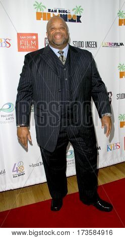 Mark Christopher Lawrence arrives at the 2017 San Diego Film Week Closing Reception and Film Awards at T-Short Galleries in San Diego, CA on Feb. 25, 2017.