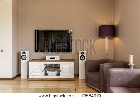 Room With Armchair And White Commode