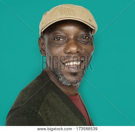 African Descent Man Smile Concept