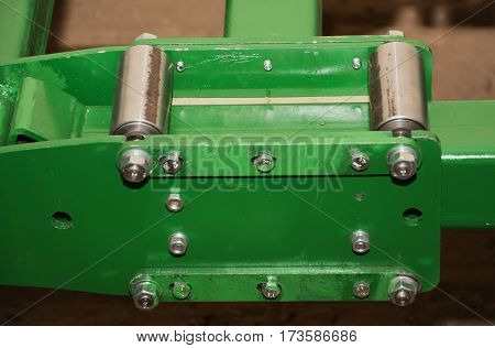 one detail of agricultural equipment close up