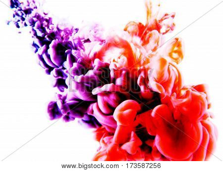 Purple Red Abstract Art