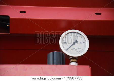 Manometer - pressure sensor close up, idustrial set