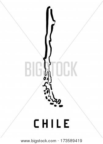 Chile Country Shape
