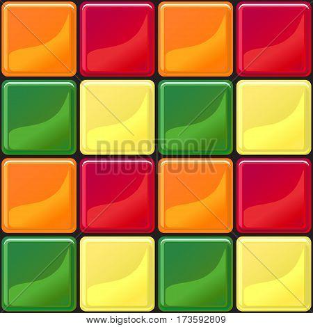 Multicolored tile texture seamless pattern vector illustration