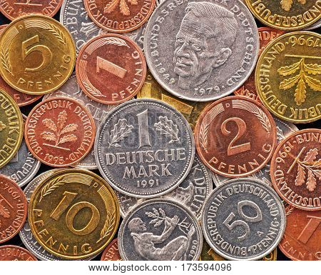 Old German Currency - Deutsche Mark - closeup image