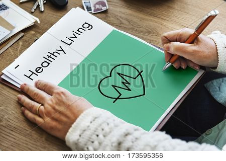 Heart Healthy Life Wellness Icon