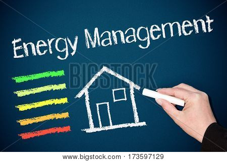 Energy Management - house or home with energy efficiency