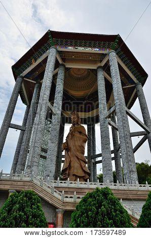 George Town/Malaysia - September 2012: Quan yin statue at Kek Lok Si temple in George Town, Penang, Malaysia.